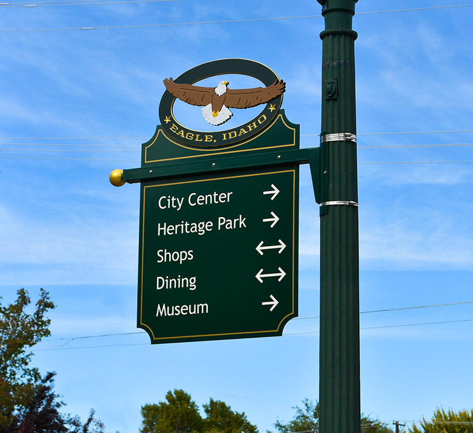 Eagle, Idaho Wayfinding Signs, Directional Signs for Eagle, Idaho