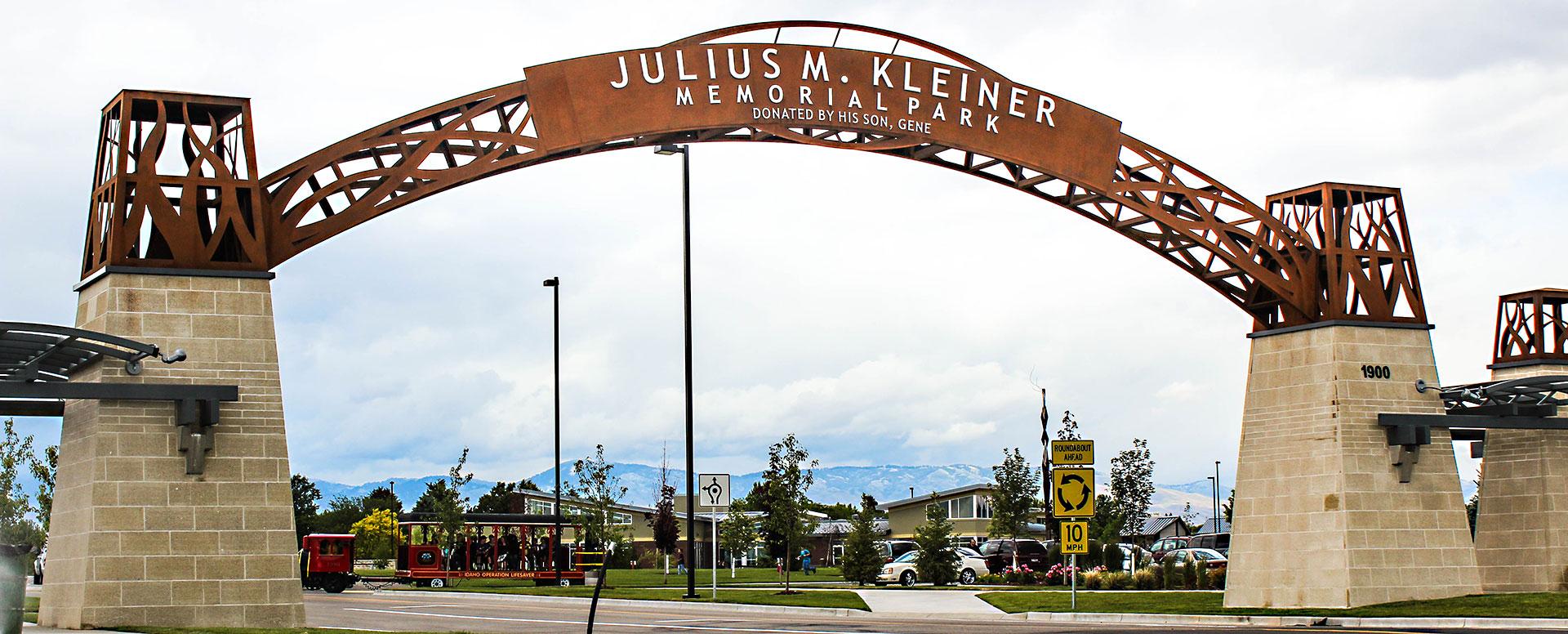 Julius Kleiner Entryway Sign