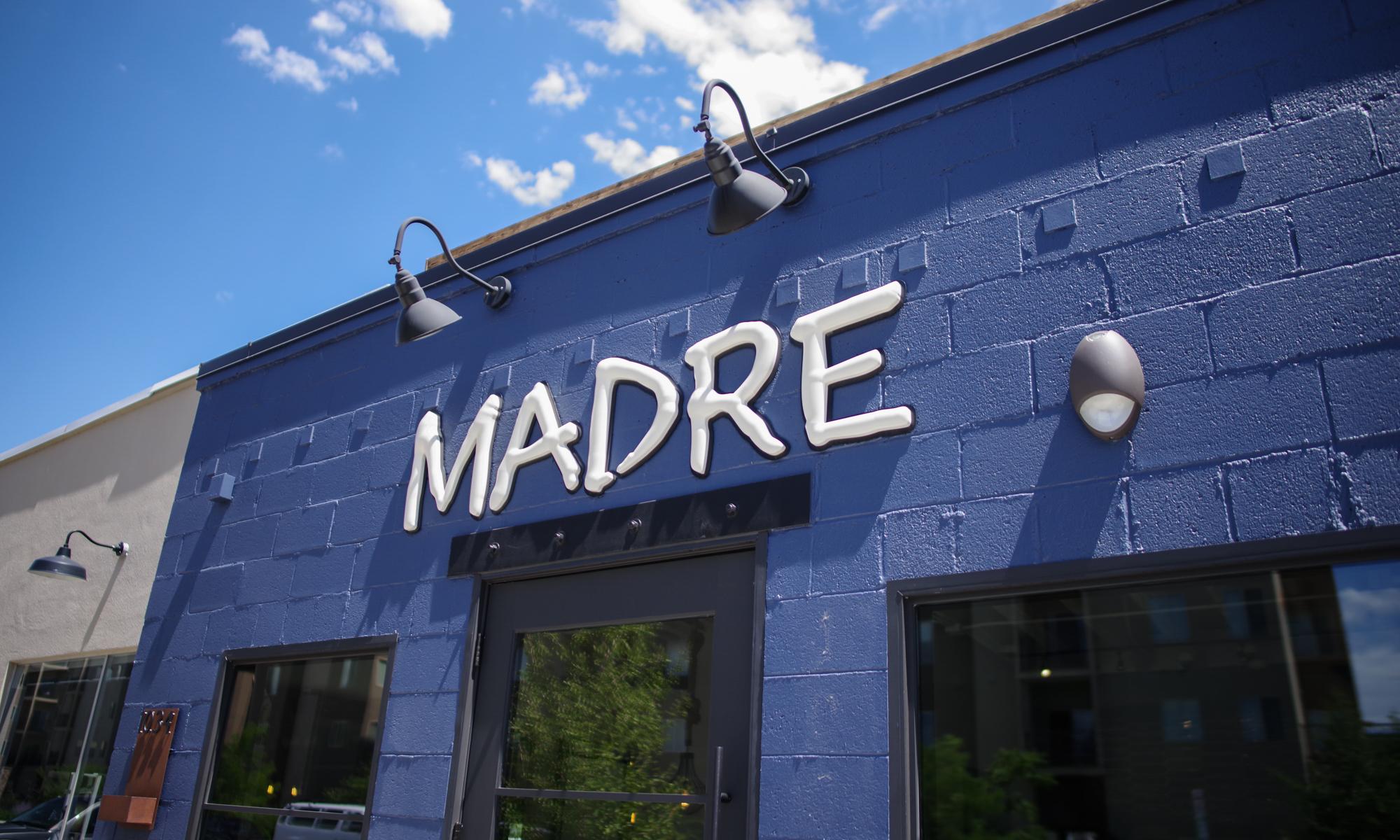 Madre Taqueria downtown Boise, Idaho custom sign