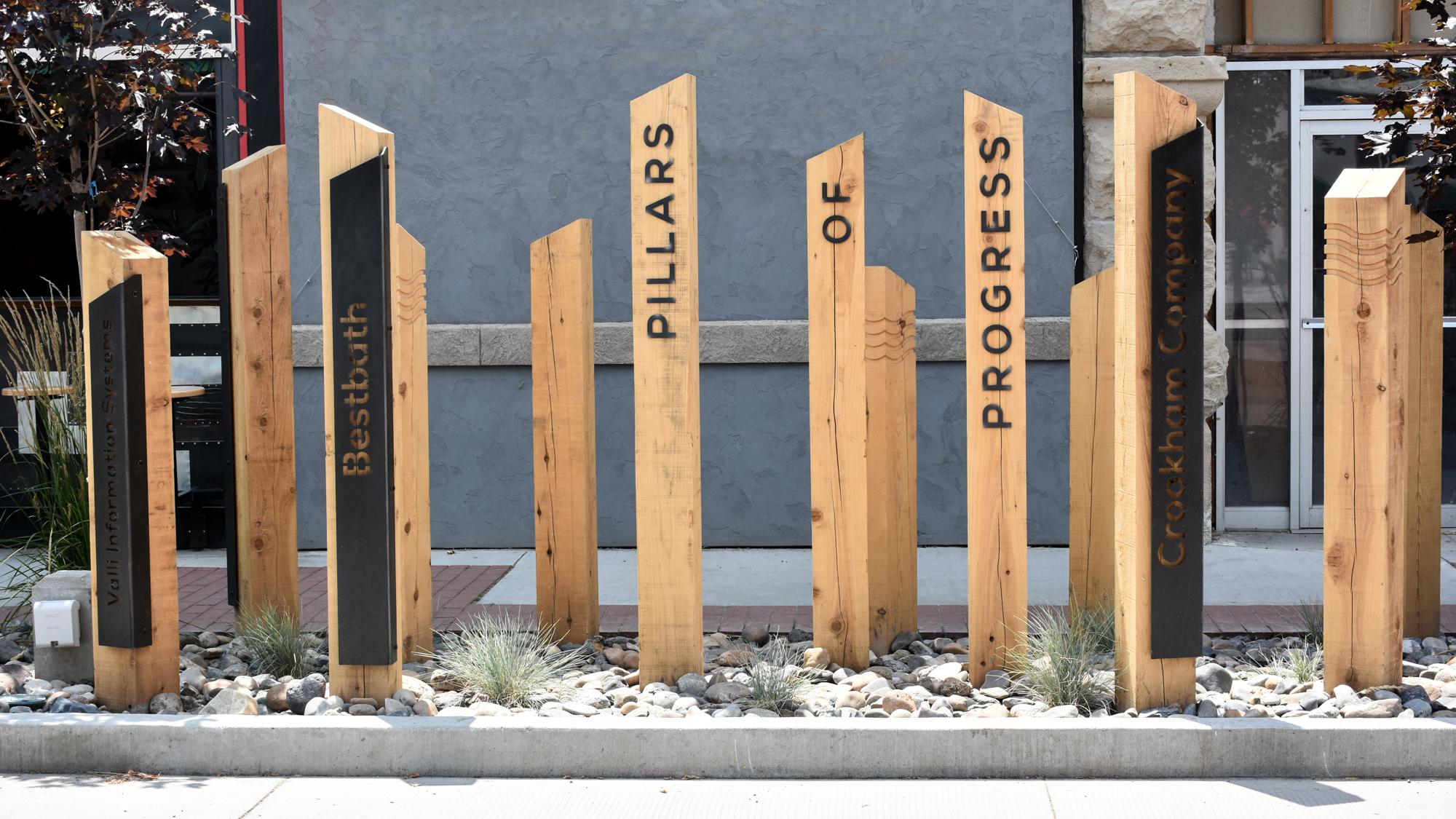 Pillars of Progress at Indian Creek Plaza Donor Recognition